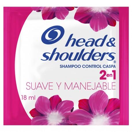 Shampoo H&S 2-1 Suave y Manejable caja x 12 unid con 18mol C/U
