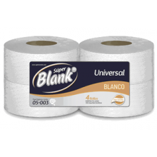 Super Blanko Papel Higienico Institucional Hoja Sencilla x400mts